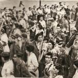 Salida de Los Aguiluchos al frente de Aragón